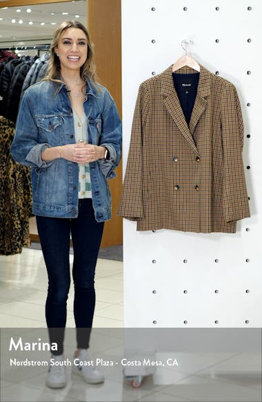 Caldwell Plaid Double-Breasted Blazer, sales video thumbnail