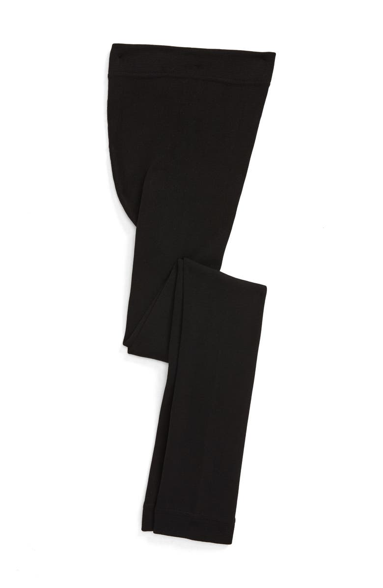 TUCKER + TATE Fleece Lined Tights, Main, color, BLACK