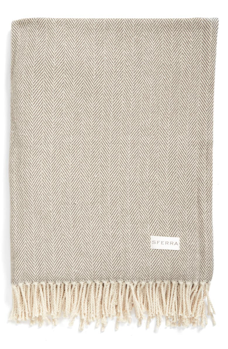 SFERRA Celine Throw, Main, color, CHARCOAL