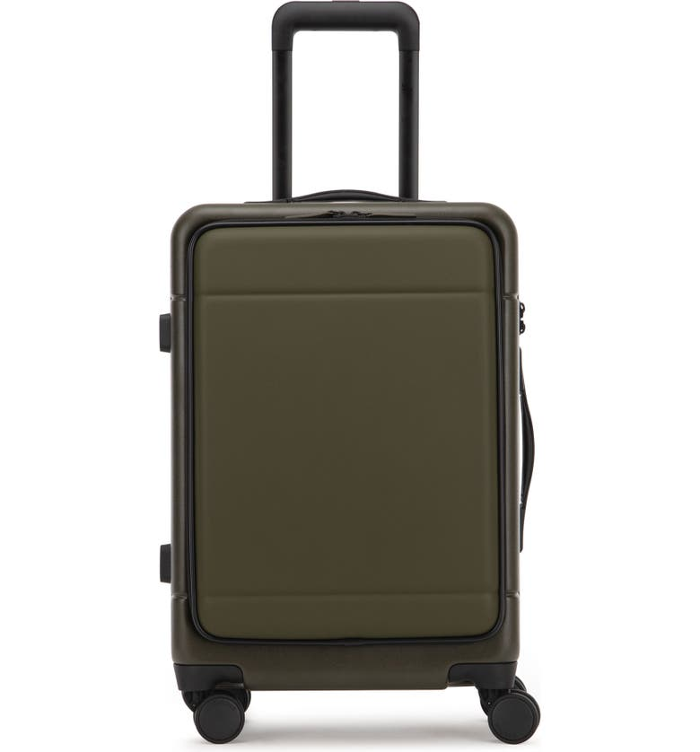 CALPAK Hue 22-Inch Front Pocket Carry-On Suitcase, Main, color, MOSS