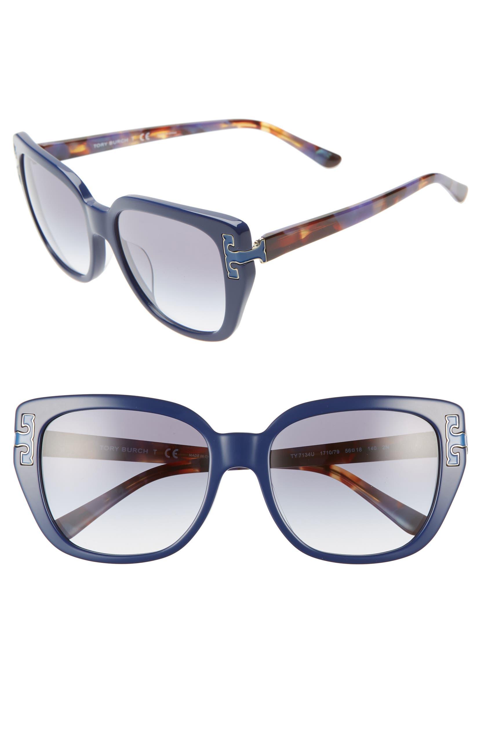dc00fde1fd52 Tory Burch 56mm Logo T Cat Eye Sunglasses | Nordstrom