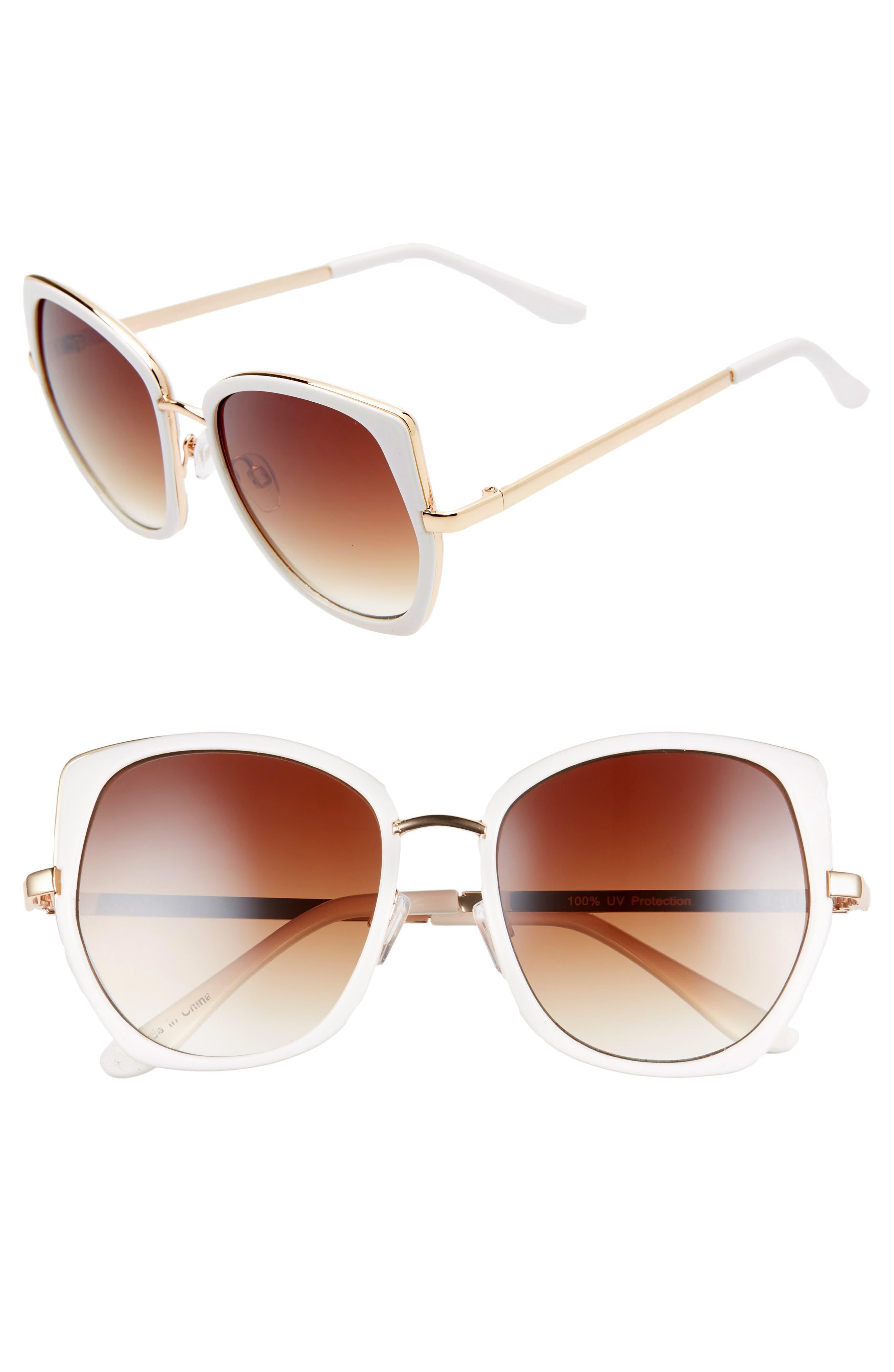 ,                             Leith 60mm Square Sunglasses,                             Main thumbnail 1, color,                             110