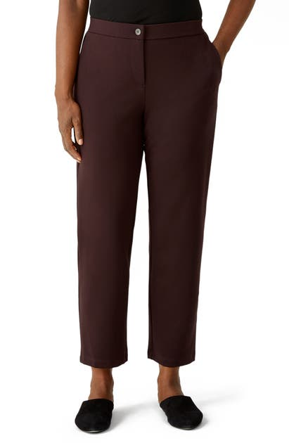 Eileen Fisher Pants SLOUCHY TENCEL LYOCELL BLEND ANKLE PANTS