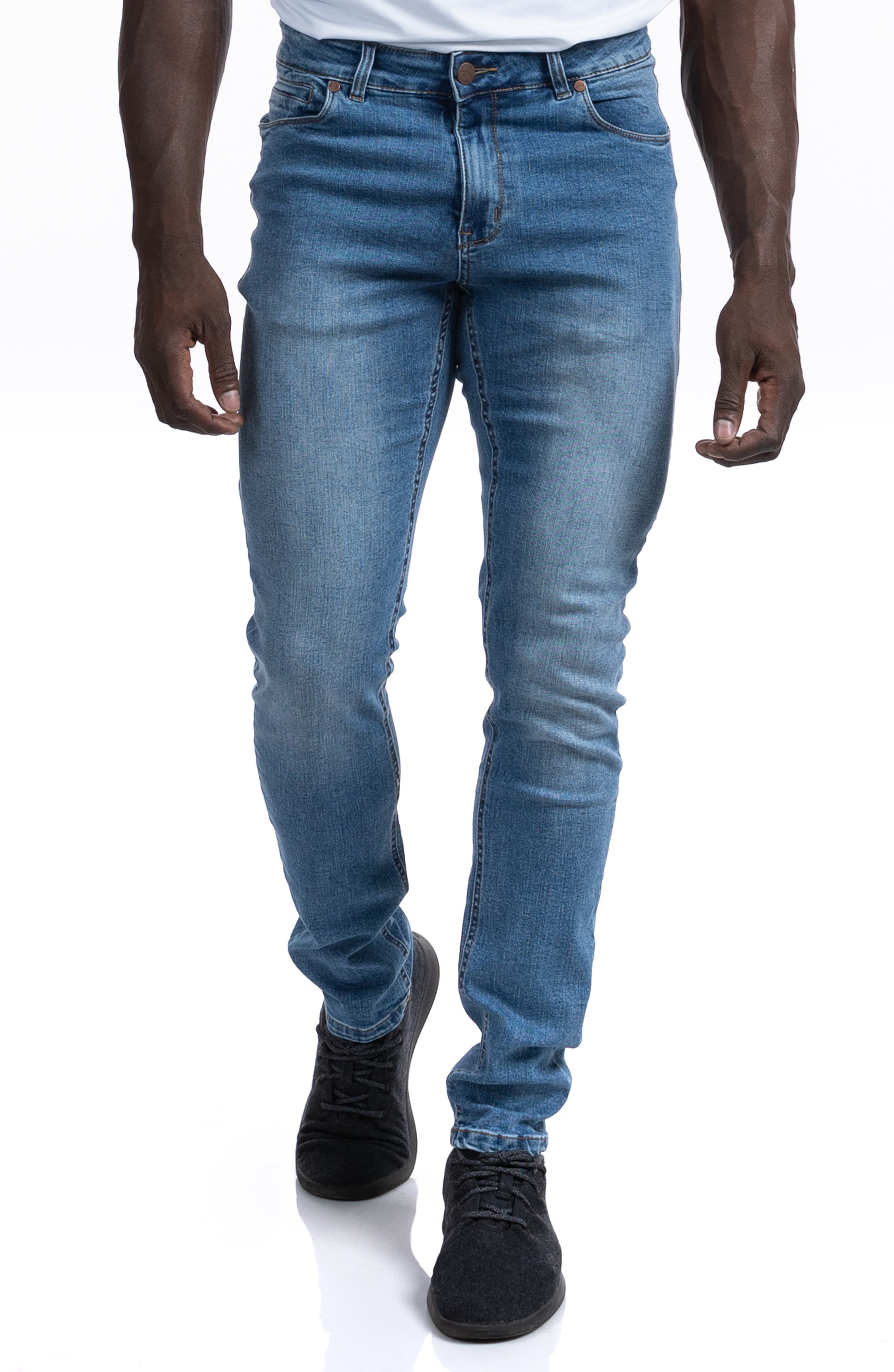 Straight Athletic Fit Stretch Jeans
