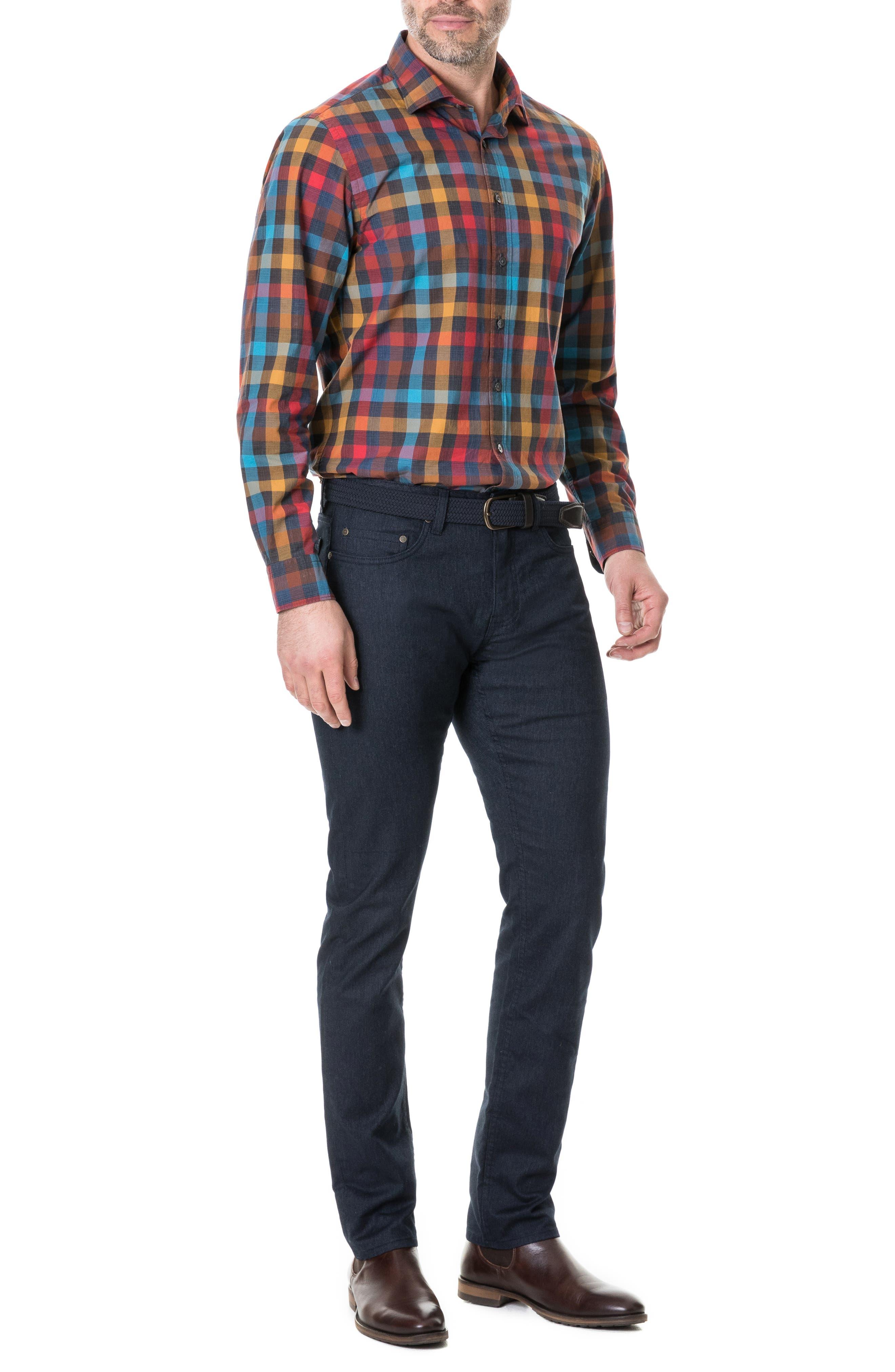 ,                             Ridgelands Regular Fit Check Sport Shirt,                             Alternate thumbnail 4, color,                             CORAL REEF