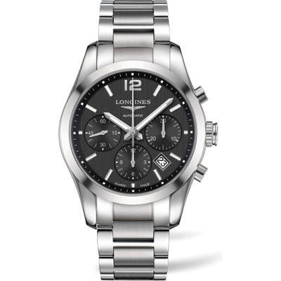 Longines Conquest Automatic Chronograph Bracelet Watch, 41Mm