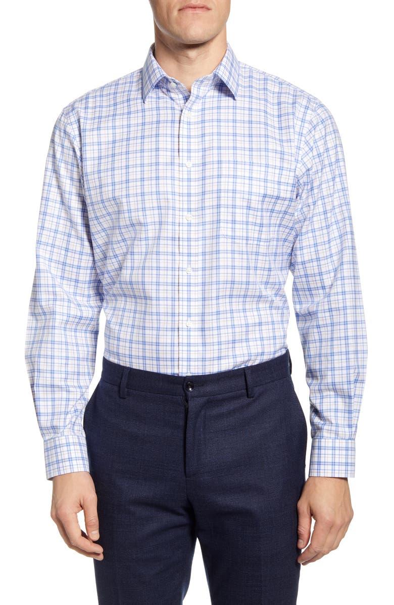 NORDSTROM MEN'S SHOP Smartcare Traditional Fit Plaid Dress Shirt, Main, color, 260