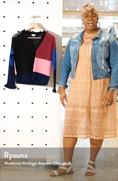 Colorblock Wool & Cashmere Crop Cardigan, sales video thumbnail