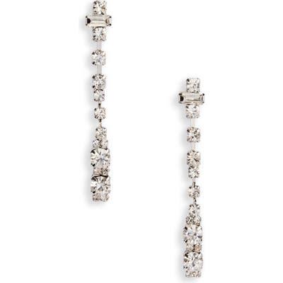 Cristabelle Crystal Dot Dash Linear Earrings