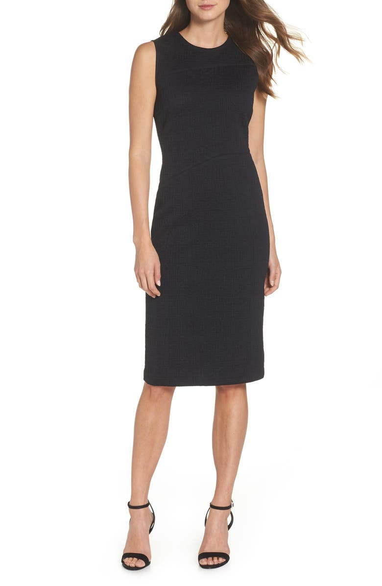 FOREST LILY Jacquard Sheath Dress, Main, color, 001