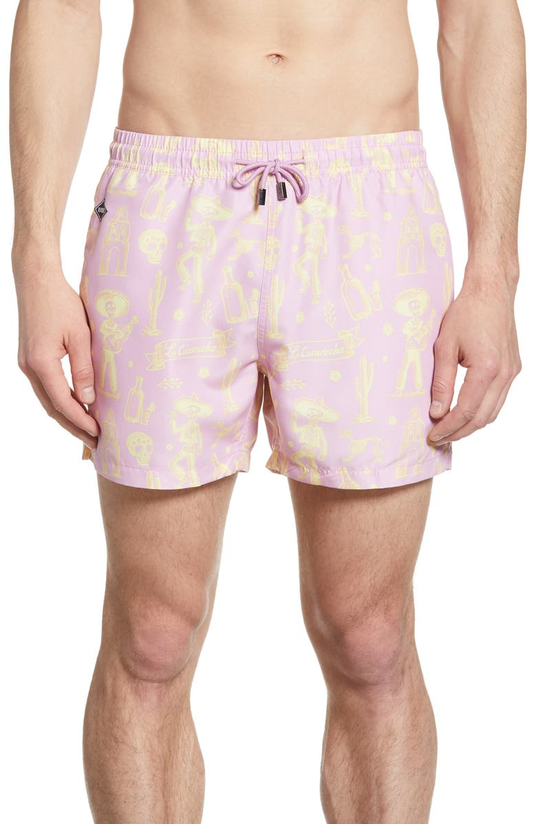 NIKBEN La Cucaracha Print Swim Trunks, Main, color, 650