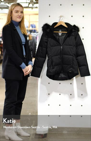 North Pole Quilted Primaloft<sup>®</sup> Hooded Jacket with Faux Fur Trim, sales video thumbnail
