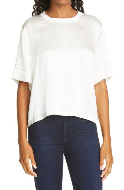 Image of ATM Anthony Thomas Melillo Boy Cut Silk Charmeuse T-Shirt