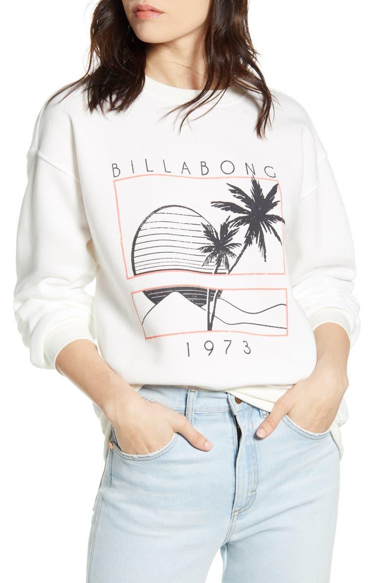 BILLABONG Bask in the Sun Graphic Sweatshirt, Main, color, SALT