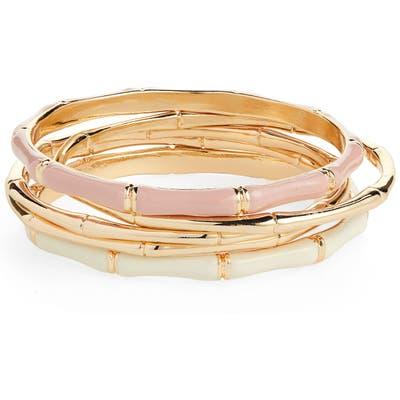 Bp. Set Of 5 Bamboo Shaped Bangle Bracelets
