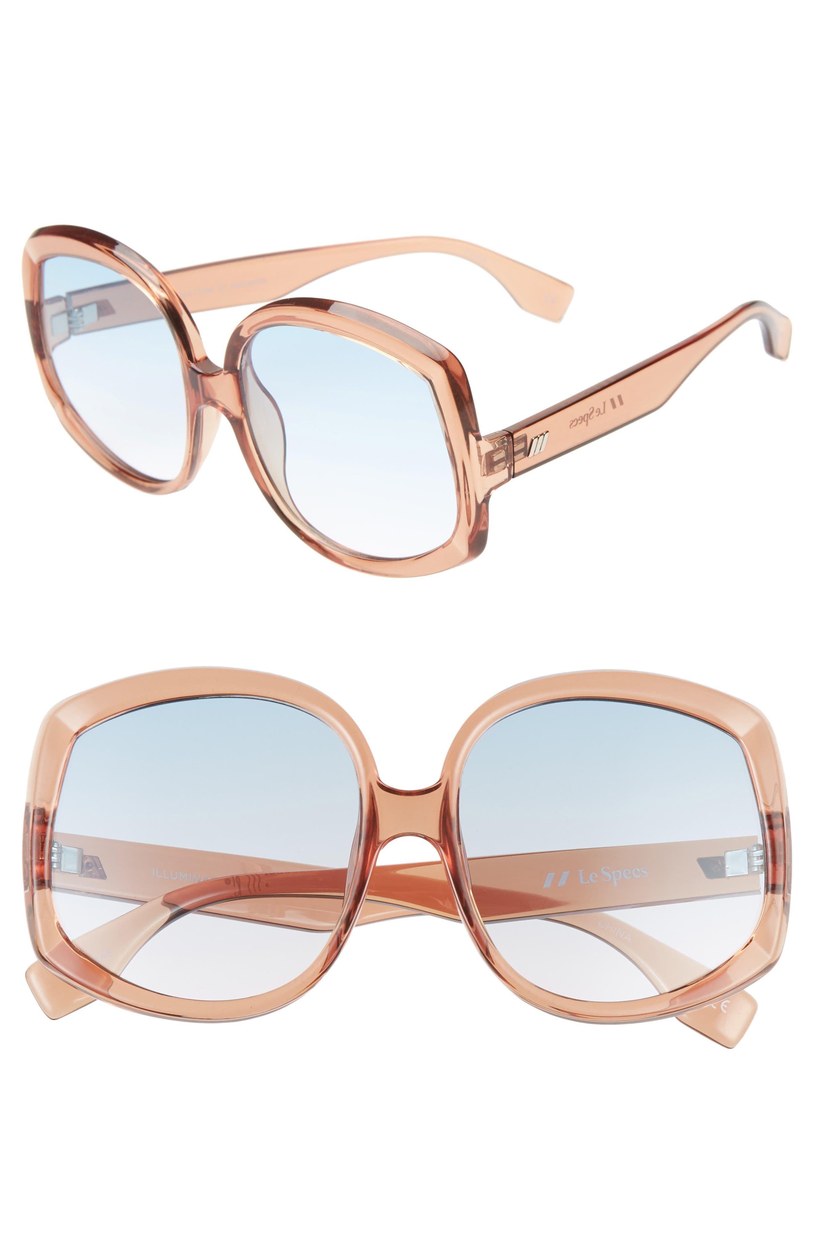Le Specs Illumination 5m Square Sunglasses - Syrup/ Teal Gradient