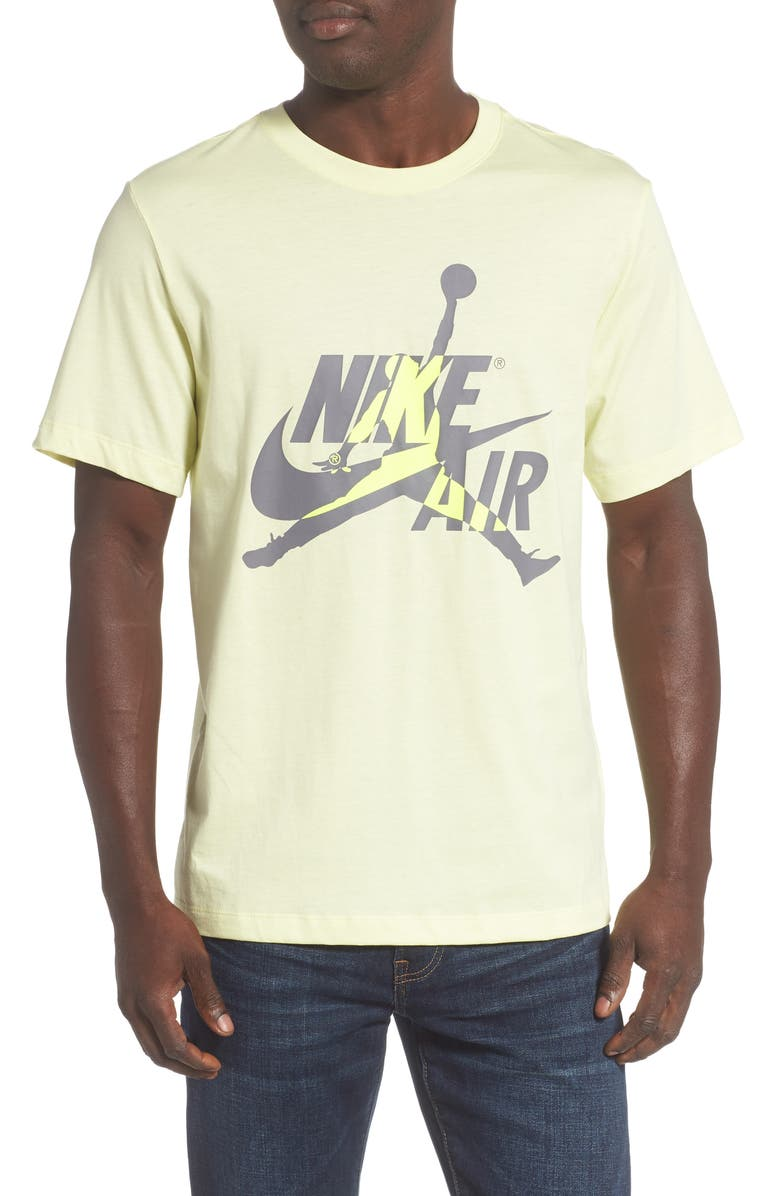 JORDAN Jumpman Classics Logo Graphic T-Shirt, Main, color, LUMINOUS GREEN/ VOLT