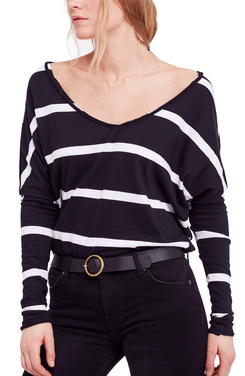 FREE PEOPLE Upstate Stripe Tee, Main, color, 019