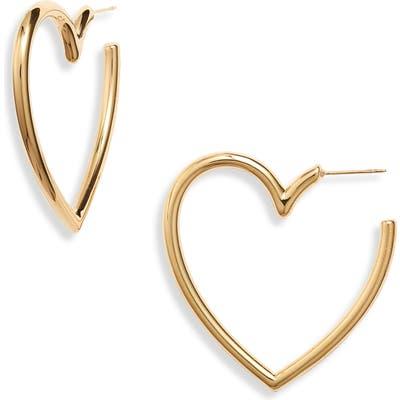 Ellie Vail Helena Heart Hoop Earrings