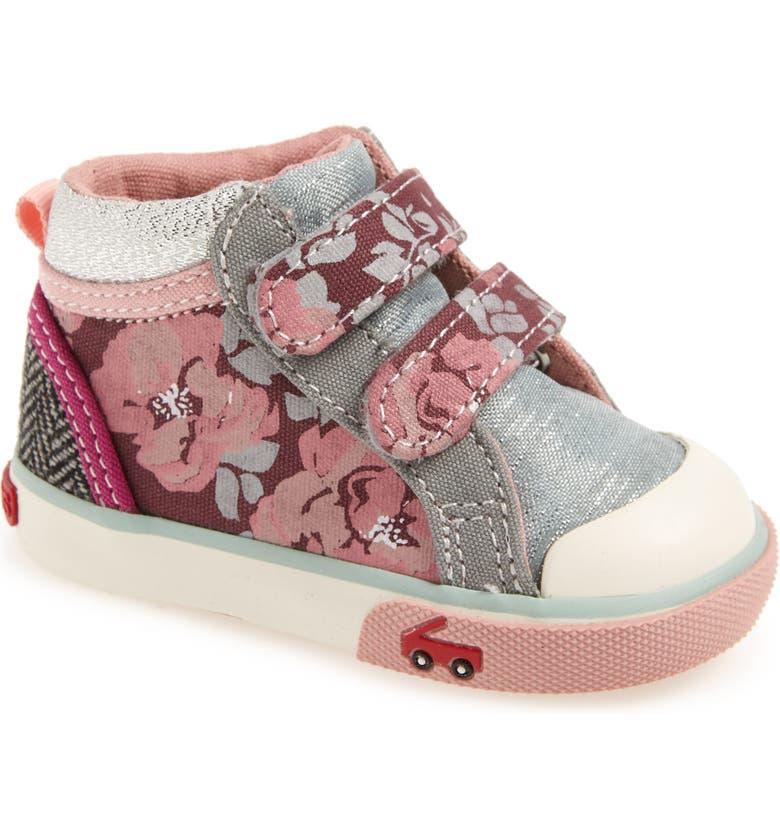 SEE KAI RUN Kya Sneaker, Main, color, MINT FLORAL