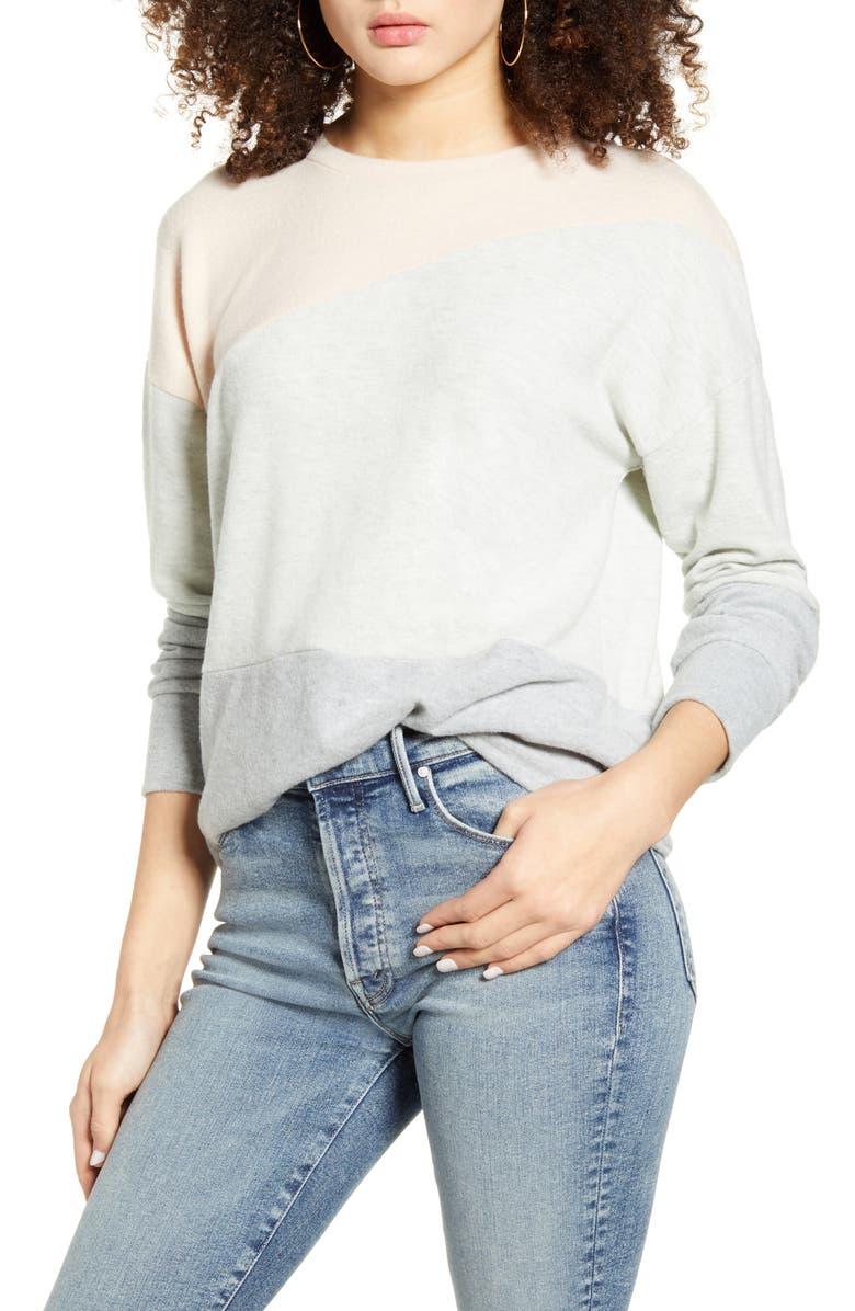 SOCIALITE Colorblock Sweater, Main, color, 200