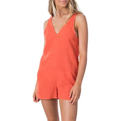 Rip Curl Holly Sleeveless Romper, Orange