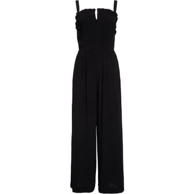 Madewell Pintuck Cami Jumpsuit In Solid, Black