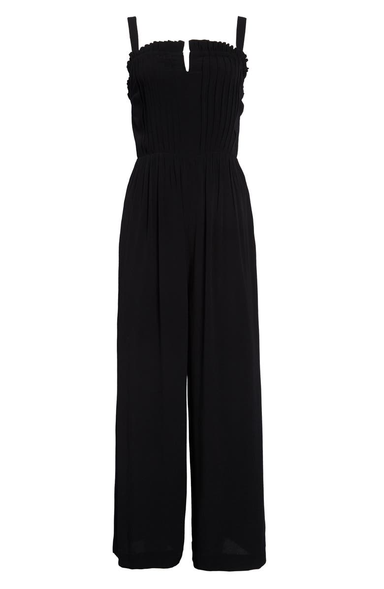 MADEWELL Pintuck Cami Jumpsuit in Solid, Main, color, TRUE BLACK
