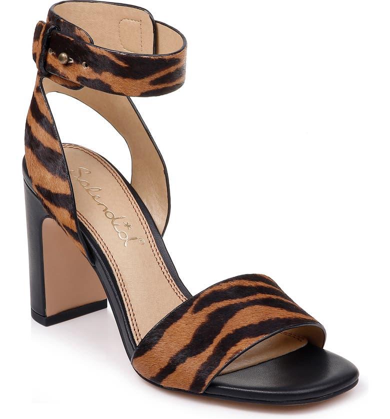 SPLENDID Harding Ankle Strap Genuine Calf Hair Sandal, Main, color, TIGER CALF HAIR