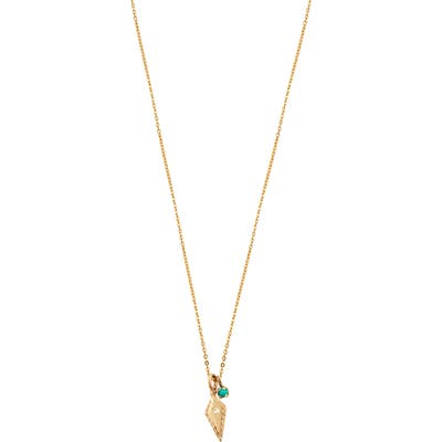 Loren Stewart Diamond Arrowhead & Turquoise Necklace