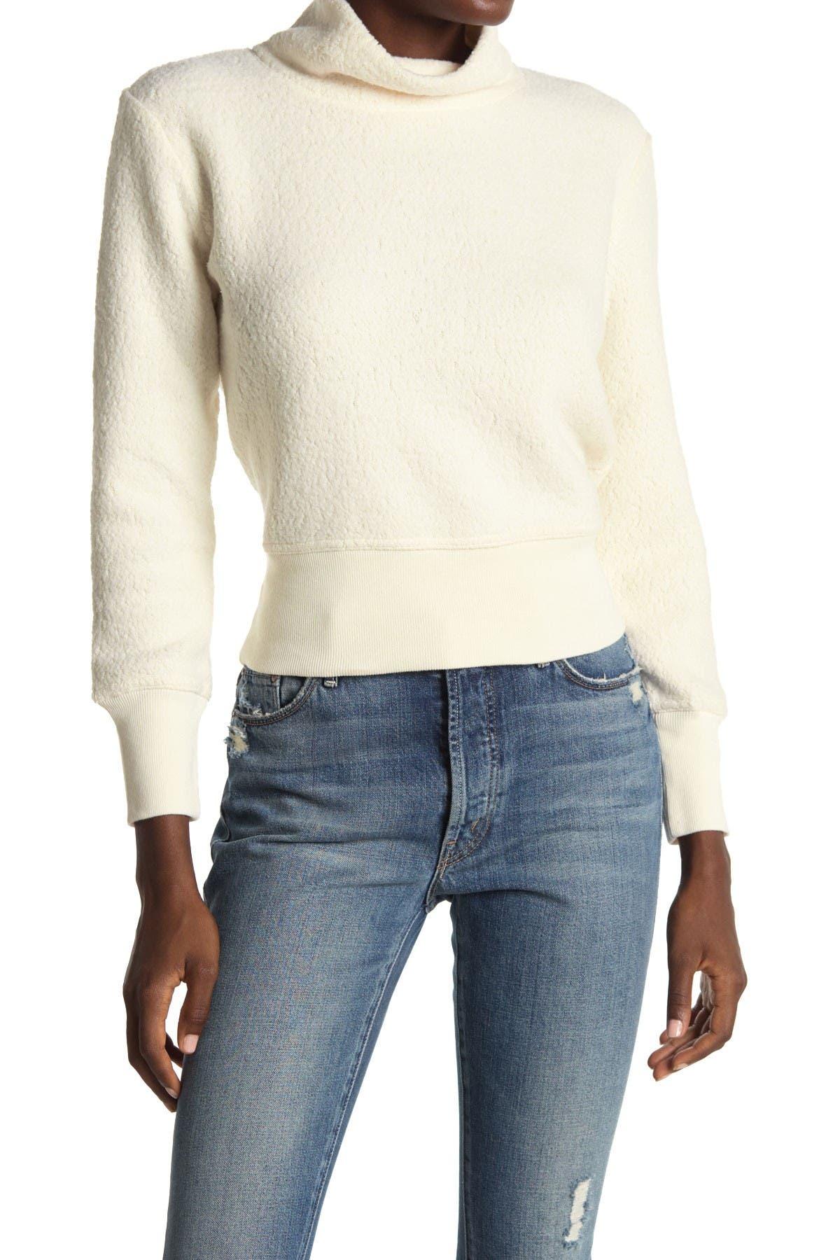 Image of Madewell Terry Mock Neck Sweatshirt