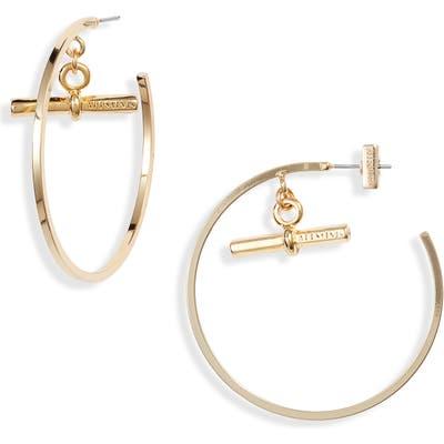 All Saints Toggle Bar Detail Hoop Earrings