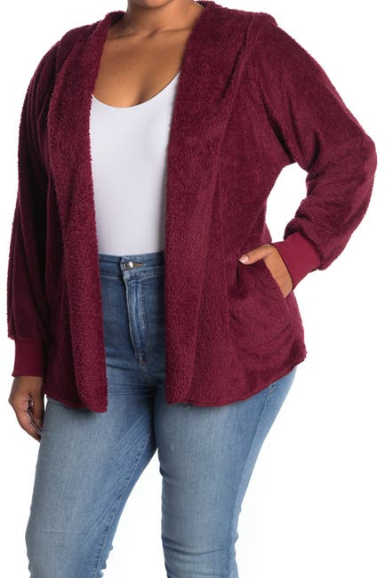 Image of Forgotten Grace Fuzzy Open Hooded Cardigan
