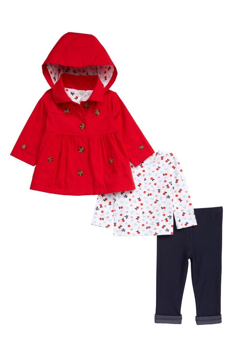 LITTLE ME Shirt, Leggings & Jacket Set, Main, color, 600