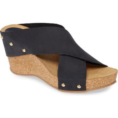 Carvela Comfort Wedge Slide Sandal, Blue