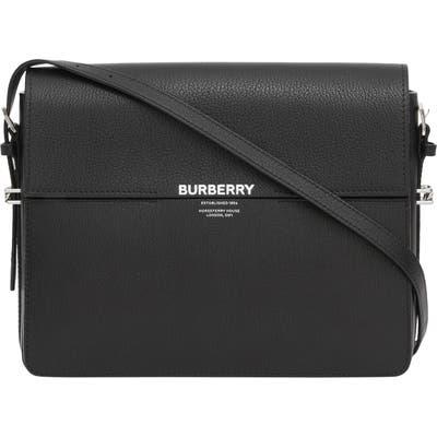 Burberry Large Grace Leather Shoulder Bag - Black