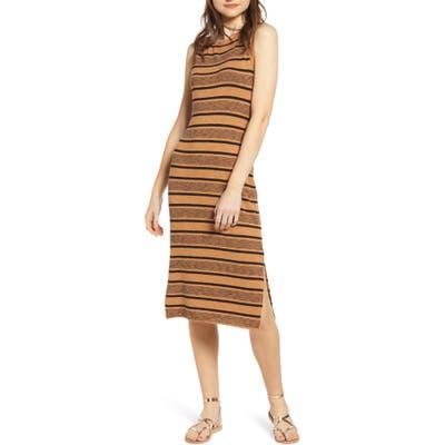 Plus Size Bp. Stripe Tank Midi Dress, Brown