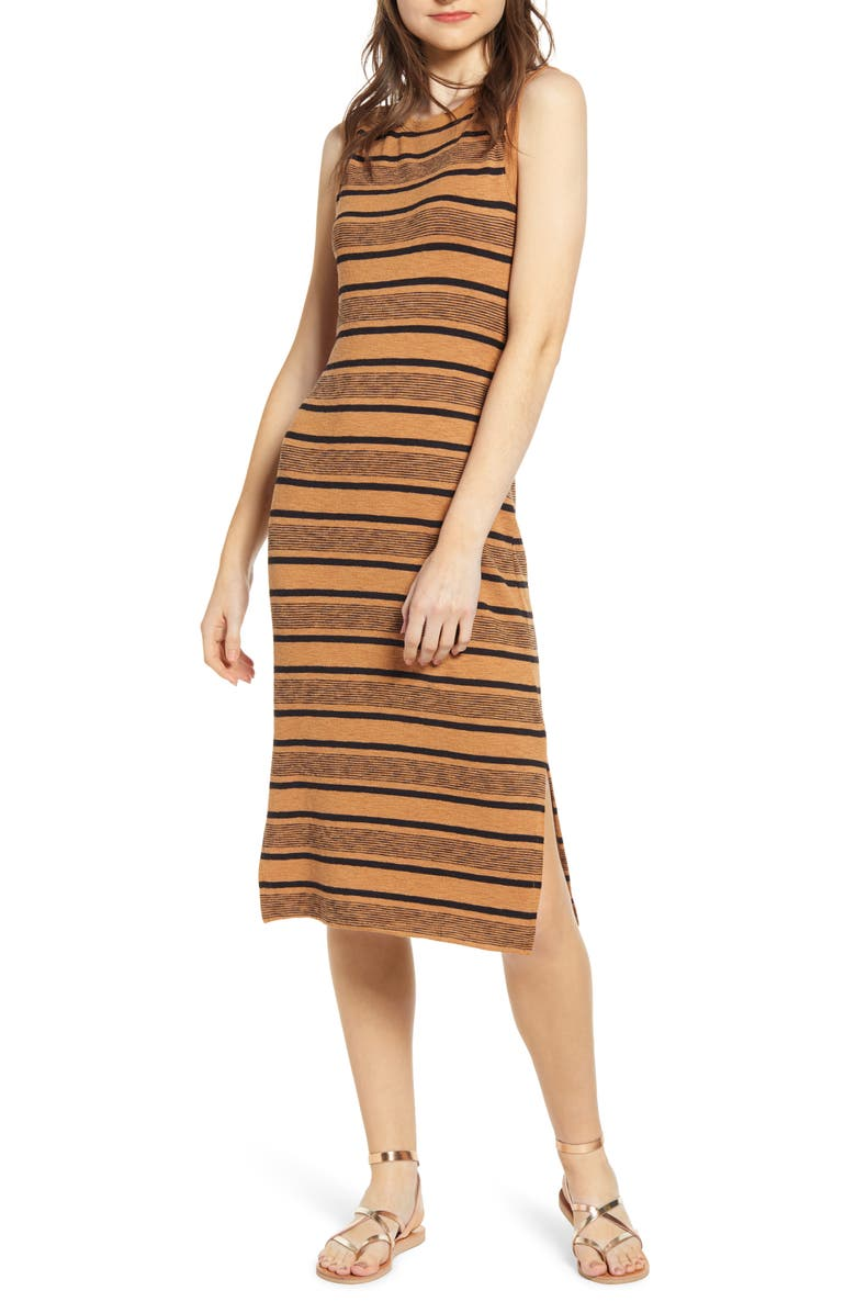 BP. Stripe Tank Midi Dress, Main, color, 238