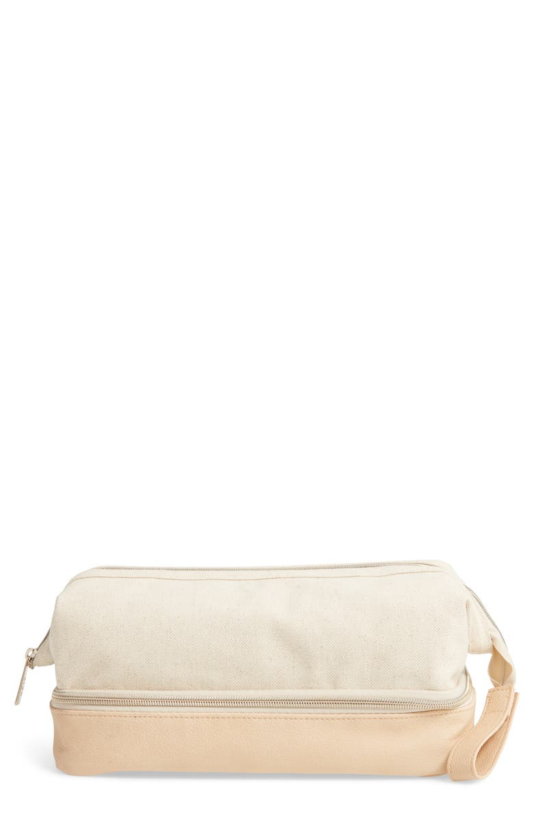 BÉIS The Dopp Cosmetics Case, Main, color, BEIGE