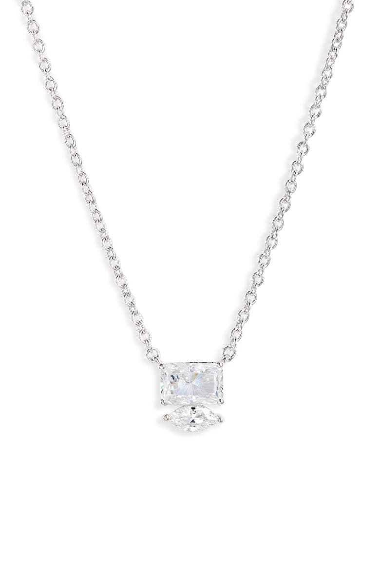 NADRI Rae Small Mixed Cubic Zirconia Pendant Necklace, Main, color, 040