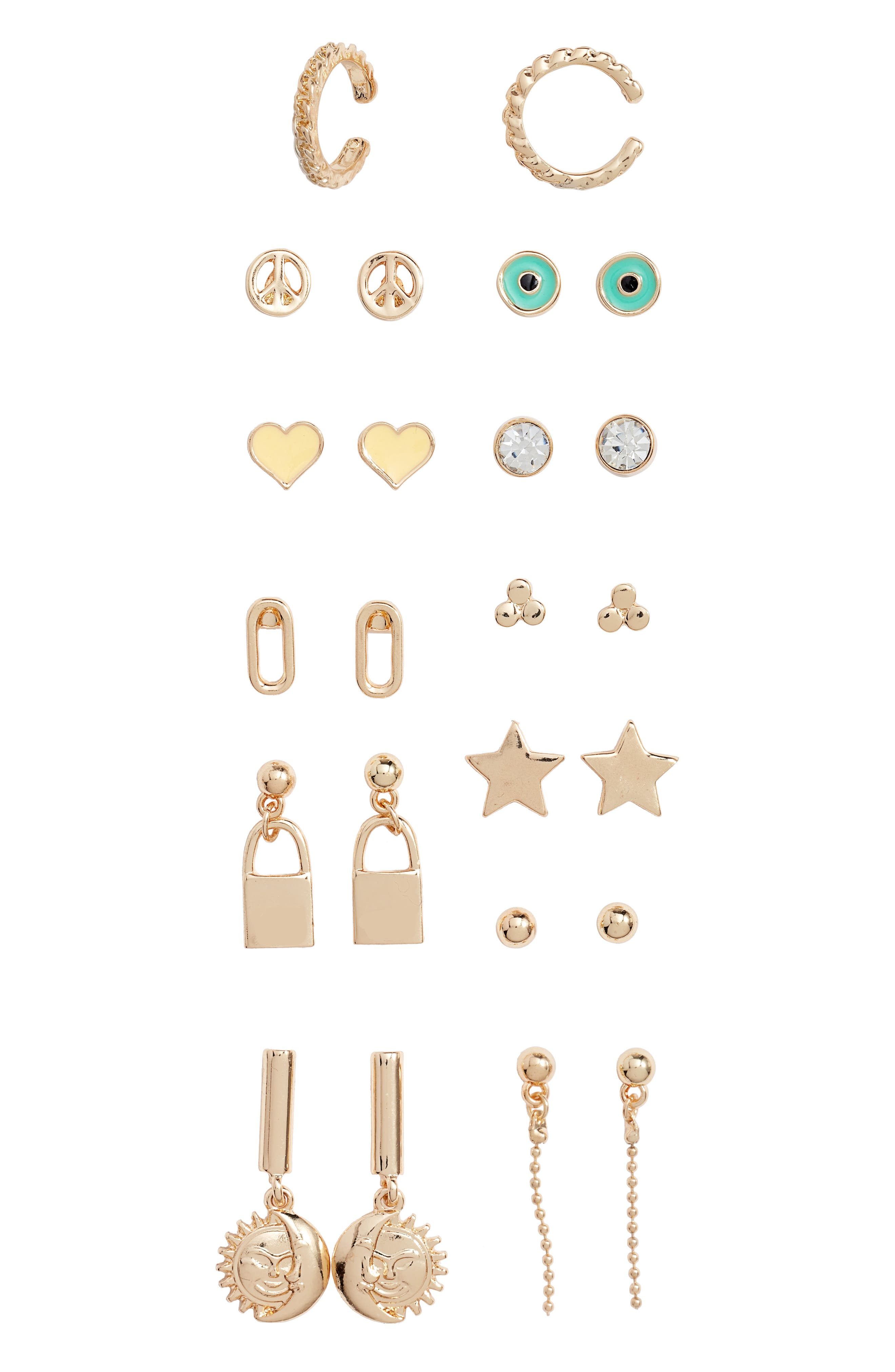 Image of BP. Assorted Earrings - Set of 12