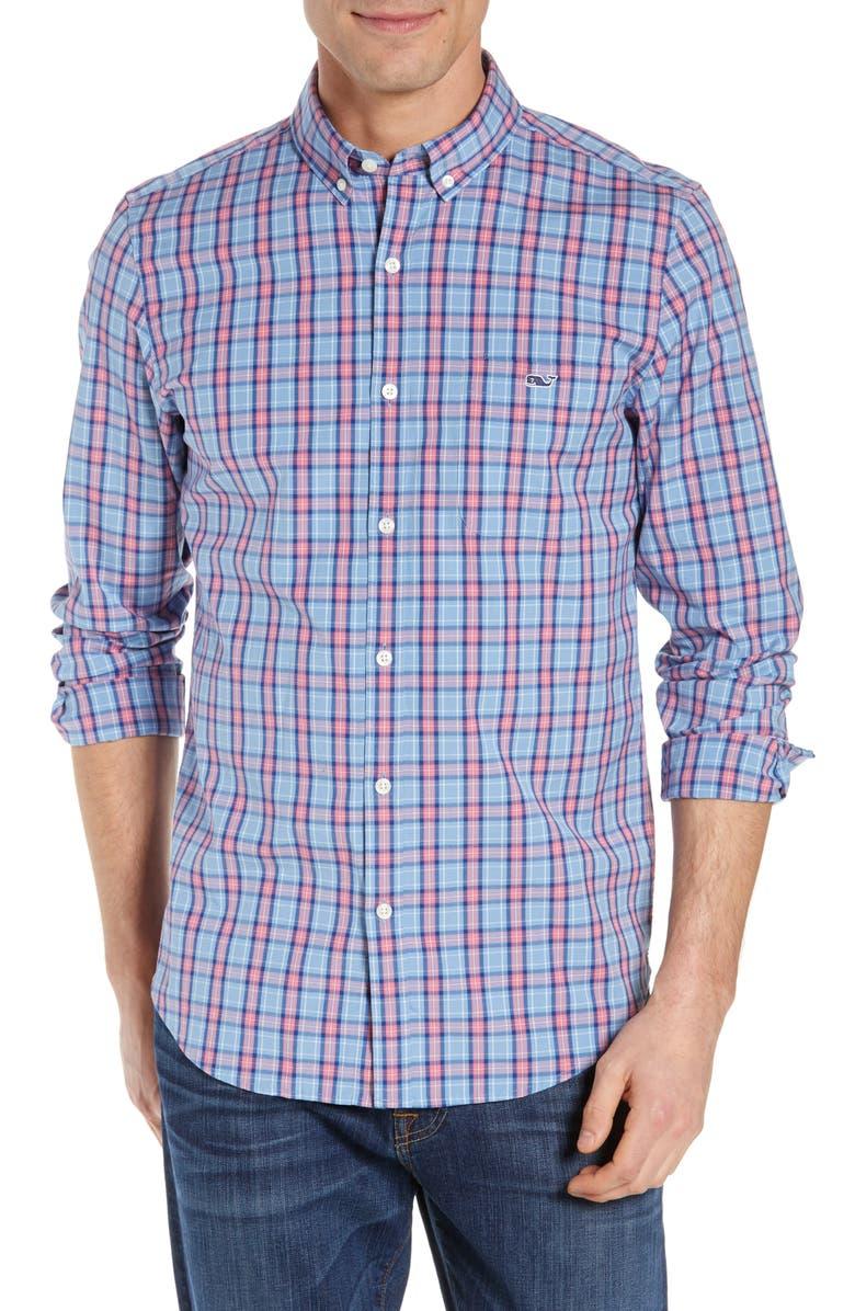 VINEYARD VINES Loon Cove Tucker Classic Fit Sport Shirt, Main, color, 485
