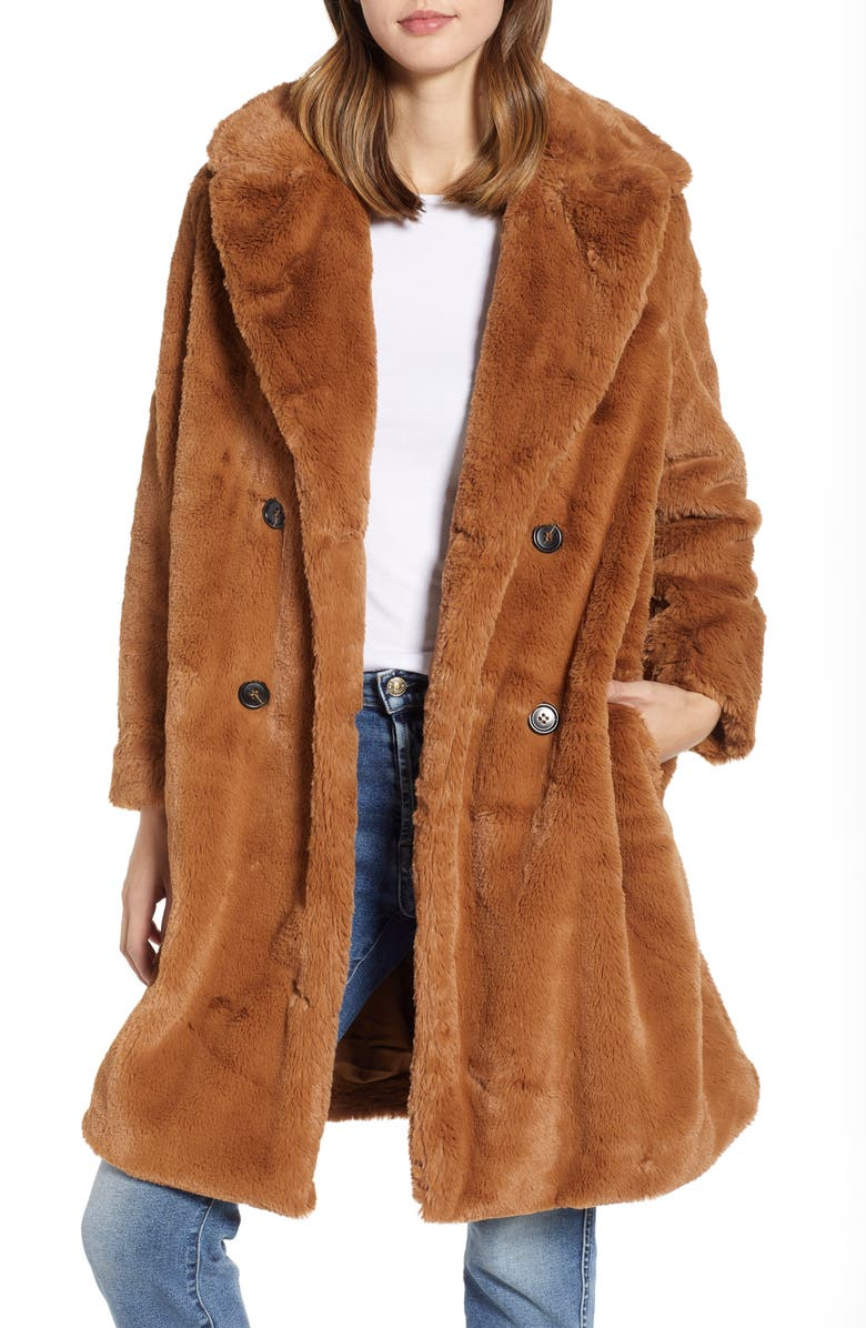 521bc0d6e1 French Connection Annie Faux Fur Jacket | Nordstrom