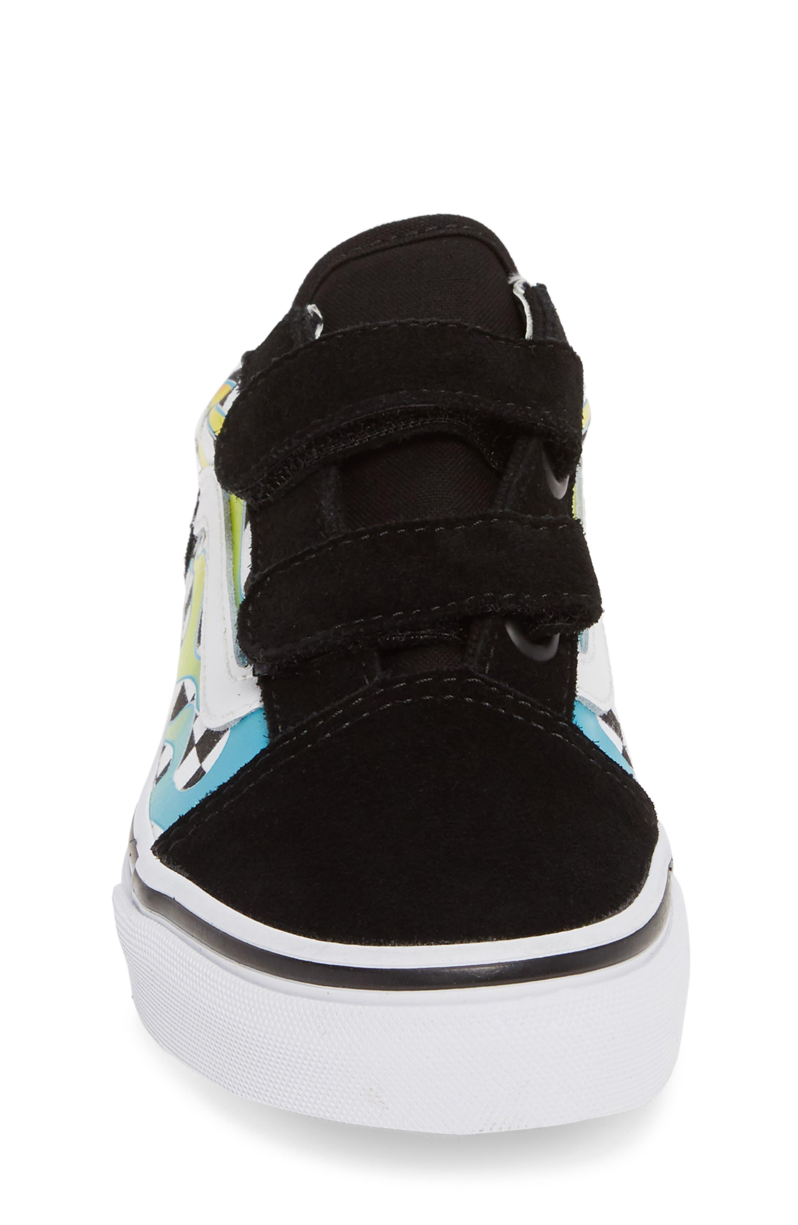 ,                             Old Skool V Sneaker,                             Alternate thumbnail 4, color,                             SCUBA BLUE/ BLACK
