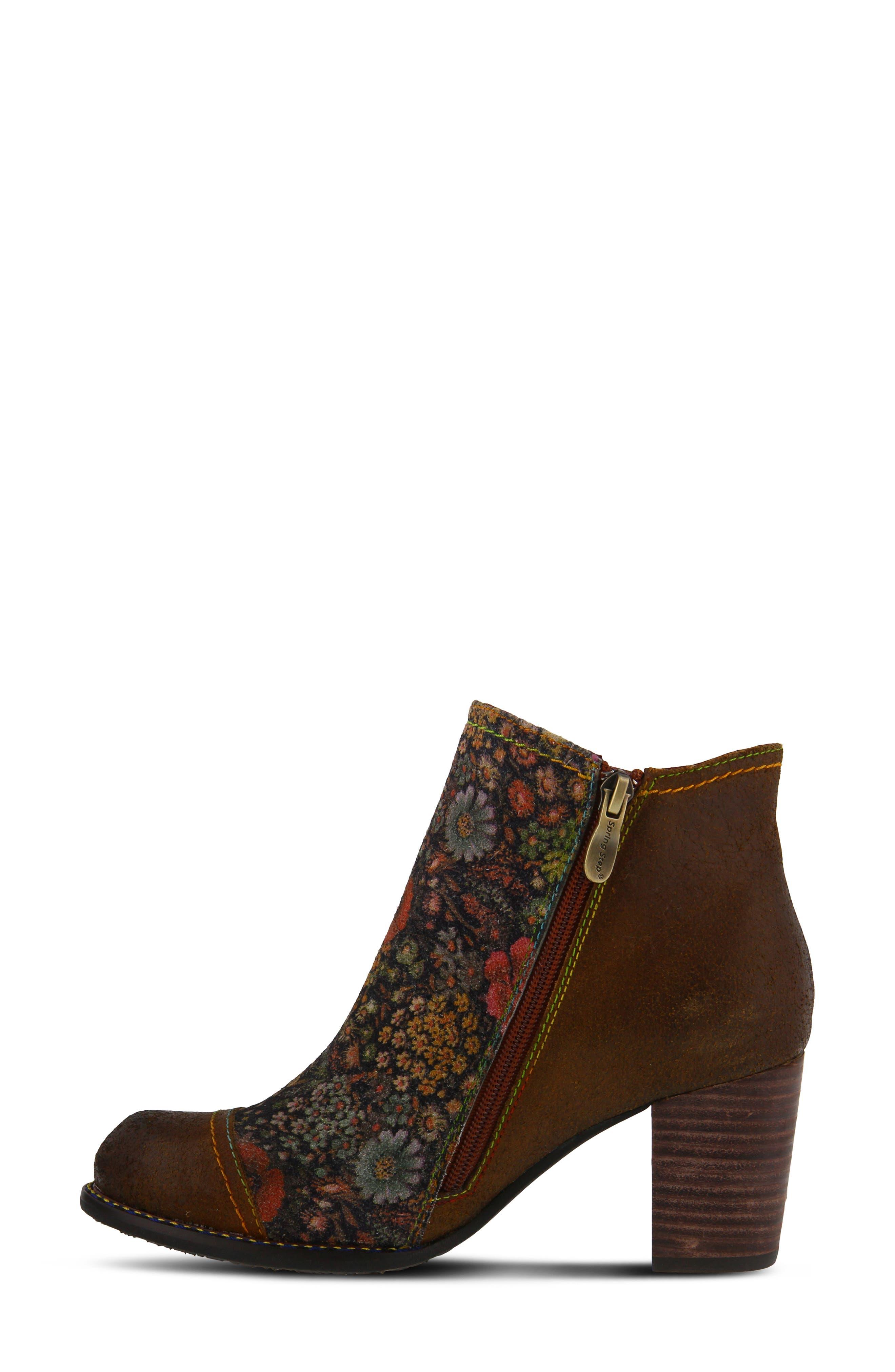 ,                             Melvina Bootie,                             Alternate thumbnail 7, color,                             BROWN MULTI LEATHER