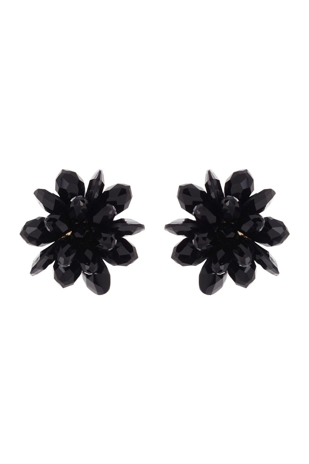 Image of kate spade new york flower crystal stud earrings