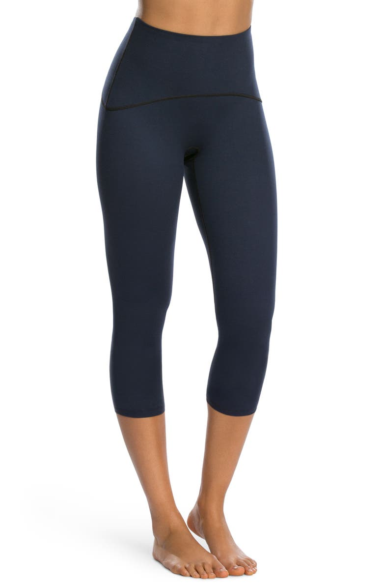 SPANX<SUP>®</SUP> Active Crop Leggings, Main, color, LAPIS NIGHT