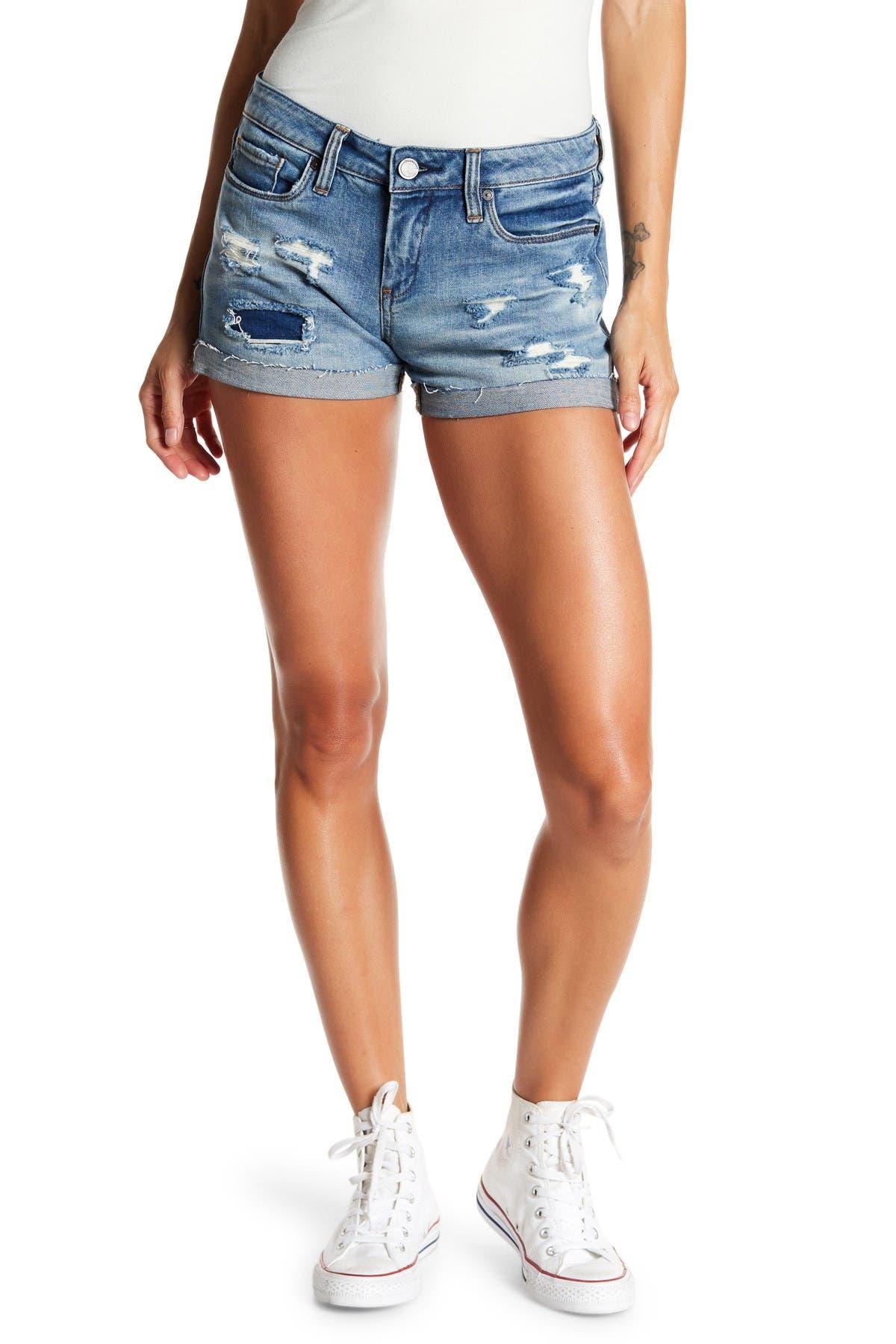 Image of BLANKNYC Denim Distressed Cuffed Denim Shorts
