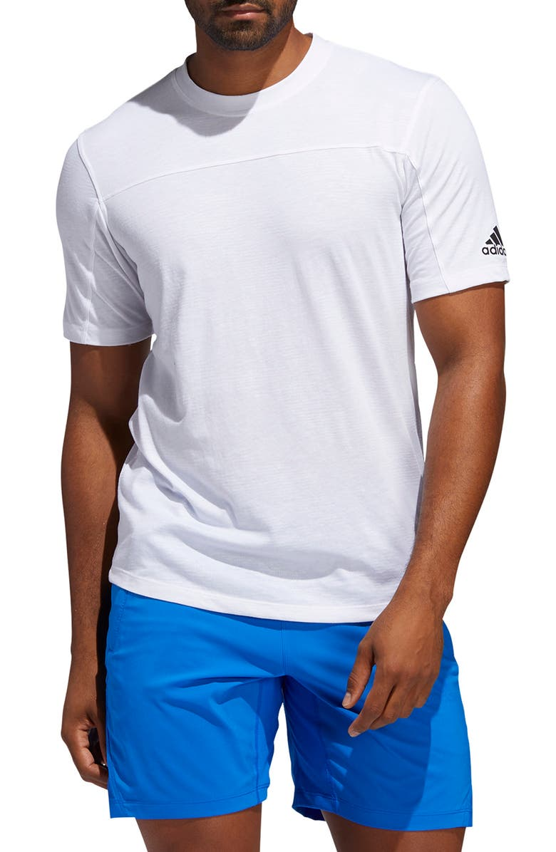 ADIDAS TKY Camo AEROREADY<sup>®</sup> Performance T-Shirt, Main, color, WHITE