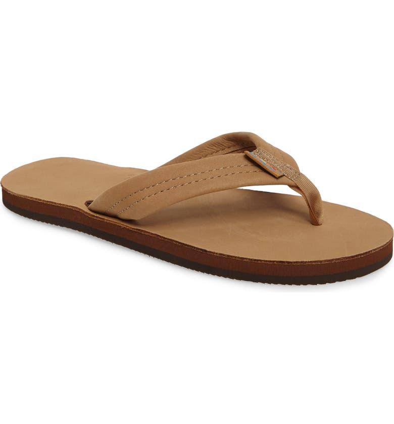 RAINBOW<SUP>®</SUP> Rainbow Leather Sandal, Main, color, SIERRA